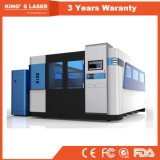 Blatt-u. Rohr-Edelstahl-Aluminiumscherblock CNC-Faser-Laser-Ausschnitt-Maschine des Metall3000*1500