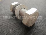 La norme ASTM A325M 8S563structurels avec un boulon m 10s Heavy l'écrou hexagonal galvanisé à chaud