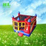 As crianças insuflável frio fascinante combinação de brinquedos com personagens de desenhos animados de trem para as crianças a desfrutar de um bom tempo
