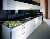 Armário de cozinha branco altamente lustroso quente da cor da venda