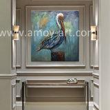 Wholesale Garceta hechas a mano de pintura al óleo sobre lienzo para decoración de pared