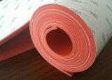 赤いカラーシリコーンのスポンジゴムシート、3mの接着剤の接着剤が付いているシリコーンのフォームラバーシート