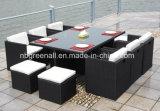Conjunto de jantar de rattan de venda quente ao ar livre