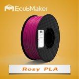 1,75mm filamentos PLA para impressora 3D cor-de-rosa