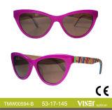 Italien-Entwurfs-China-kundenspezifische Bambusbügel-Großhandelssonnenbrillen mit Cer FDA (594-A)