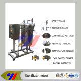 A estrenar en pequeña escala vertical eléctrico Autoclave esterilizador de retorta