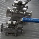Abrazadera de acero inoxidable sanitario Tri carrete para equipo de extracción