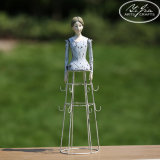 Metallo Mannequin Coffee Cup Display Holder per Decoration