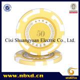 14G 2 tonos arcilla strip poker Chip con pegatinas personalizadas (SY-E13).