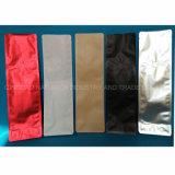 Joint Quad de qualité alimentaire Les emballages en plastique pour le thé de sac sac de café café ordinaire Matt White Joint Quad sac de café avec valve