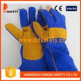 Ddsafety 2017 перчаток Welder коровы сини Split при усиленный желтый цвет