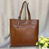 Echtes Leder-kaufende hohe Kapazitäts-Handtaschen-Schultertote-Beutel Emg4575