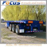 Fokus-Fahrzeuge - 40FT Flachbettdes behälter-3axle Schlussteil halb