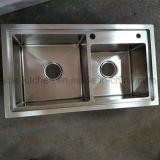 Het gootsteen-Dubbel van de Keuken van het roestvrij staal Kommen die de Gootstenen van de Keuken van het Roestvrij staal van de Apparatuur richten zich
