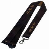 Oferta promocional tecido personalizadas corda para copos gancho de cabide