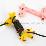 Hot vender tebeos auricular con soporte de cable, el enrollador de cable