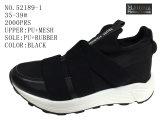 Numéro 52189 unité centrale noire Outsole de chaussures occasionnelles de chaussures de femmes de couleur