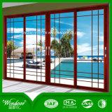 За дверью кабины, красочные алюминиевые двери для продажи в настоящее время