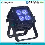 옥외 RoHS DMX 4 15W Ostar RGBW LED 알루미늄 쿼드 색깔 LED 동위 빛