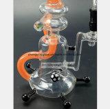 Gelbes rauchendes Wasser-Glasrohr für Ton bereiten Sortierfach auf