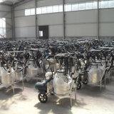 ガソリンおよびACモーター真空ポンプの二重バケツ牛搾り出す機械
