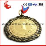 Medaglie materiali d'ottone poco costose di pallacanestro con la sagola su ordinazione