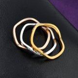 新しいデザイン女性の組合せのカラーによってめっきされる金属のリングの宝石類
