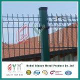 PVC円形のポストが付いている上塗を施してある曲線の溶接された金網のヨーロッパの塀