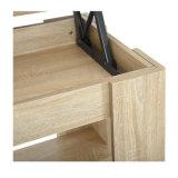De houten Koffietafel van de Plank van de Opslag van de Lift van de Woonkamer omhoog Regelbare