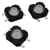 Interruptor de tacto lavável, com LED e PAC, Thru-Hole e tipos de SMT