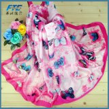 90*180cm padrão de moda 100% lenço de cetim de seda pura para as jovens mulheres Dom