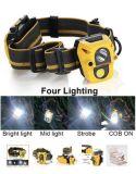 경량 옥수수 속 3AAA에 의해 강화되는 가장 새로운 운동 측정기 3W Headlamp