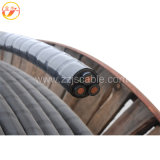 3개의 코어 PVC에 의하여 격리되는 알루미늄 전력 케이블