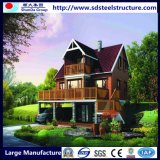 Casa de campo de aço Prefab luxuosa moderna fácil durável de Assemable
