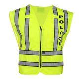 警察のための100%年のポリエステル高品質の反射安全ベスト