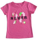 Vestiti del bambino della ragazza di fiore di modo in maglietta dei capretti dei bambini con Printingsgt-080