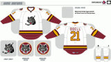 Customized Homens Mulheres Crianças Liga de Hóquei Americana Chicago Wolves Hóquei no Gelo Jersey