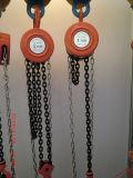 Elevador de corrente manual de mão tipo redonda
