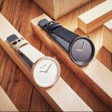 Het in het groot Minimalistische Polshorloge van het Horloge van het Kwarts van Japan van het Horloge van het Leer van het Horloge Mens Echte
