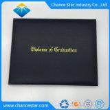 Custom Sewed края держателя сертификата из натуральной кожи диплом крышки