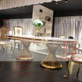 Золотой серебристый корпус из нержавеющей стали акриловые украшения акриловые верхней части таблицы свадьбы
