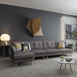 Sofà sezionali di stile del sofà di promozione del nuovo di disegno del salone strato d'angolo stabilito nordico della mobilia
