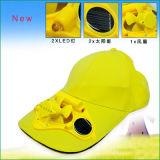 Neuer Entwurfs-Sommer-Hut-angeschaltene Ventilator-Solarschutzkappe