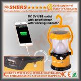Solar portable de la linterna LED 8, 1 antorcha del LED, USB