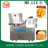 Máquina de fritura comercial y sartén profunda del restaurante para el alimento de bocado