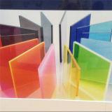Feuille acrylique de couleur transparente pour faire des signes