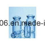 Frasco de vidro tubular claro de 2 ml