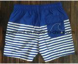 Ткань Mose всходит на борт краткостей, краткостей пляжа человека голубой напечатанных прокладкой