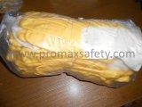 Перчатки нитрила желтого цвета вкладыша хлопка запястья руки Knit открытые назад Coated