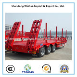Semi Aanhangwagen van uitstekende kwaliteit van het Bed van 3 Assen de Lage van de Leverancier van China
